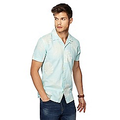 Red Herring - Pale green linen blend slim fit shirt