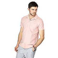 Red Herring - Big and tall light pink linen blend shirt