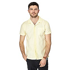 Red Herring - Big and tall yellow linen blend shirt