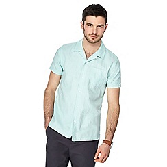 Red Herring - Light green linen blend shirt