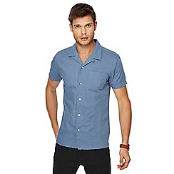 Red Herring - Blue linen blend shirt