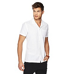 Red Herring - White linen blend shirt
