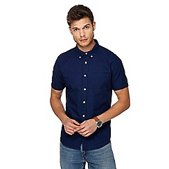 Red Herring - Navy short sleeve Oxford shirt