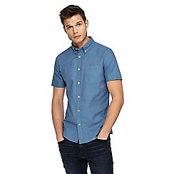 Red Herring - Light blue short sleeve Oxford shirt