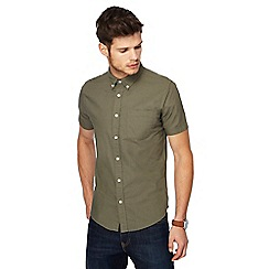 Red Herring - Khaki short sleeve Oxford shirt