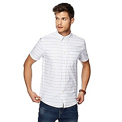 Red Herring - White striped print slim fit shirt