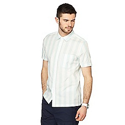 Red Herring - Pale green deckchair striped short sleeved slim fit shirt