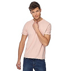 Red Herring - Big and tall light pink roll sleeve t-shirt