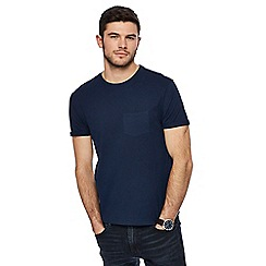 Red Herring - Navy roll sleeve t-shirt