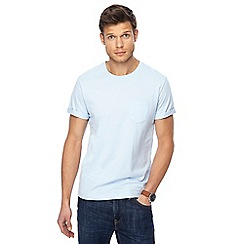 Red Herring - Big and tall pale blue roll sleeve t-shirt
