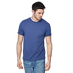 Red Herring - Big and tall purple roll sleeve slim fit t-shirt