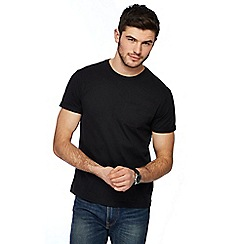 Red Herring - Black roll sleeve t-shirt