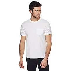 Red Herring - White roll sleeve t-shirt