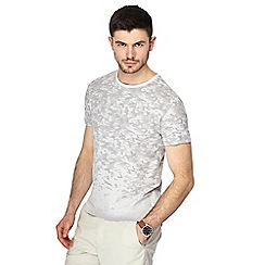 Red Herring - Grey faded camo print slim fit t-shirt