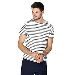 Red Herring - White textured striped slim fit t-shirt