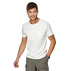 Red Herring - White textured slim fit t-shirt