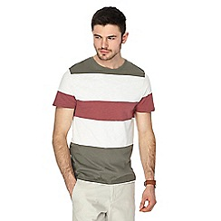 Red Herring - Multi-coloured block striped slim fit t-shirt