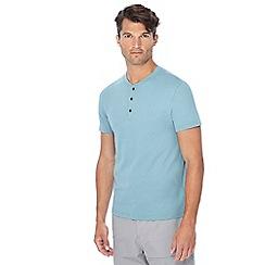 Red Herring - Big and tall aqua grandad neck t-shirt