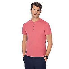 Red Herring - Bright pink grandad neck t-shirt