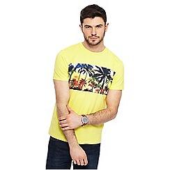 Red Herring - Yellow palm tree print t-shirt