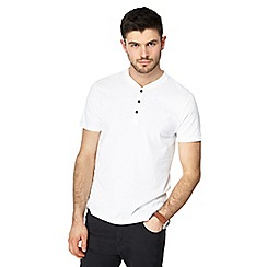 Red Herring - Pack of two white slim fit grandad tops