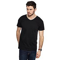 Red Herring - Black V-neck slim fit t-shirt