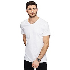 Red Herring - White V-neck slim fit t-shirt