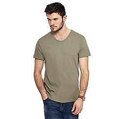 Red Herring - Khaki V-neck slim fit t-shirt