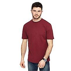 Red Herring - Dark red crew neck drop shoulder t-shirt