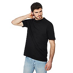 Red Herring - Big and tall black crew neck drop shoulder t-shirt