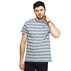Red Herring - Big and tall light blue striped slim fit t-shirt