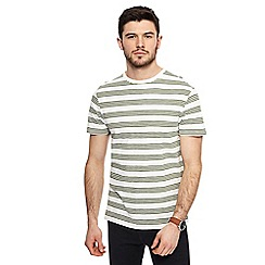 Red Herring - Big and tall off-white striped slim fit t-shirt