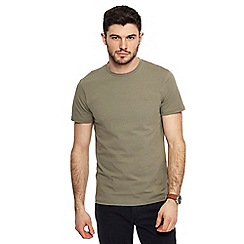 Red Herring - Khaki muscle fit crew neck t-shirt