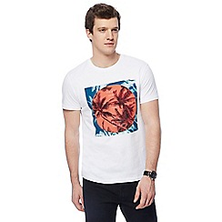 Red Herring - White 'Bahamas' print t-shirt