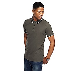 Red Herring - Khaki tipped slim fit polo shirt