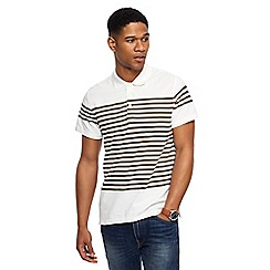Red Herring - Off white striped slim fit polo shirt