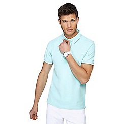 Red Herring - Pale green tipped slim fit polo shirt