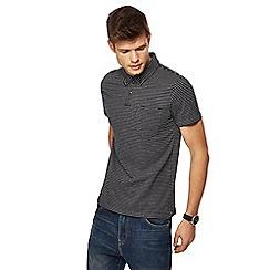 Red Herring - Navy jacquard dash print slim fit polo shirt