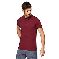 Red Herring - Dark red muscle fit polo shirt
