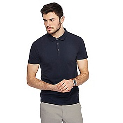 Red Herring - Navy muscle fit polo shirt