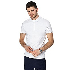 Red Herring - White muscle fit polo shirt