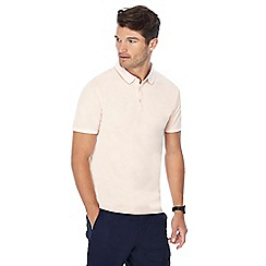 Red Herring - Big and tall orange tipped collar slim fit polo shirt