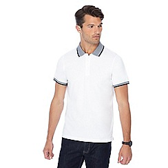 Red Herring - White textured collar slim fit polo shirt