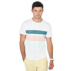 Red Herring - White striped slim fit t-shirt