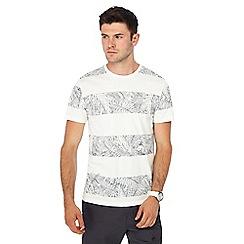 Red Herring - White palm leaf striped t-shirt