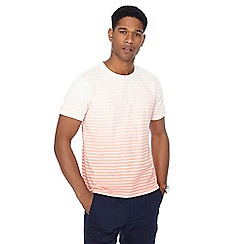 Red Herring - Big and tall orange faded stripe t-shirt