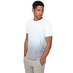 Red Herring - Big and tall blue faded stripe t-shirt