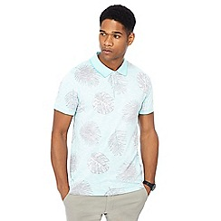 Red Herring - Turquoise floral print slim fit polo shirt
