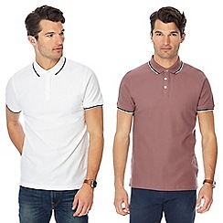 Red Herring - Set of 2 slim fit polo shirts