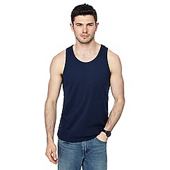 Red Herring - Big and tall navy slim fit vest